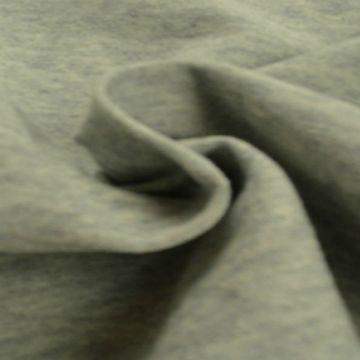 katoenen tricot jersey gemeleerd grijs