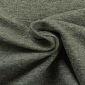 katoenen tricot jersey gemeleerd donker grijs