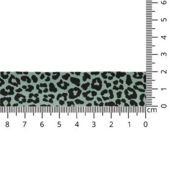 Oaki Doki Biaisband Tricot - Leopard - Old Green
