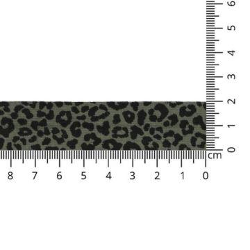 Oaki Doki Biaisband Tricot - Leopard - Army Green