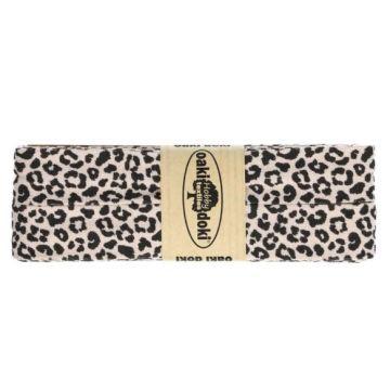 Oaki Doki Biaisband Tricot - Leopard - Old Pink