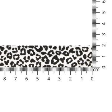 Oaki Doki Biaisband Tricot - Leopard - White