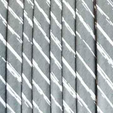 Oaki Doki Katoen Biaisband - Stripes Grey - 2m