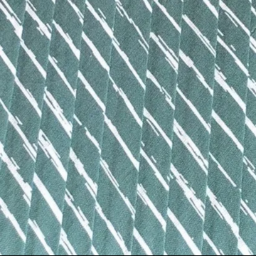 Oaki Doki Katoen Biaisband - Stripes Vintage Green - 2m