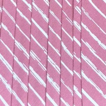 Oaki Doki Katoen Biaisband - Stripes Blush Pink - 2m