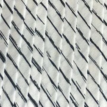 Oaki Doki Katoen Biaisband - Stripes White - 2m