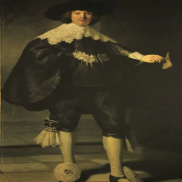 Stretch Katoen Paneel - Marten en Oopjen Portretten