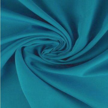 Viscose stof met pauwenveren donker blauw