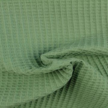 Wafelkatoen - Vintage Groen
