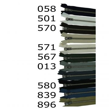 YKK Deelbare Metalen Ritsen - 60 cm