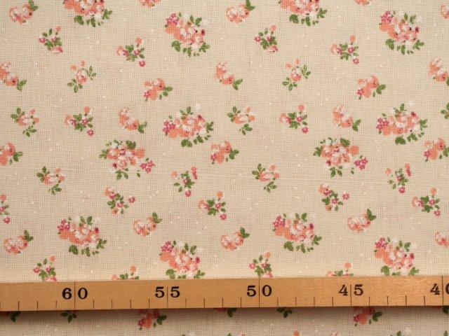 ... linnen (gordijn)stof met romantische bloemen ... 9dcb3f1b0fb53